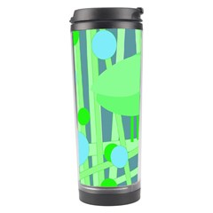 Green Bird Travel Tumbler by Valentinaart