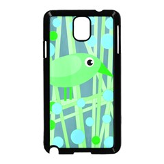 Green Bird Samsung Galaxy Note 3 Neo Hardshell Case (black) by Valentinaart