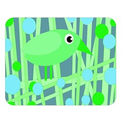 Green Bird Double Sided Flano Blanket (large)  by Valentinaart