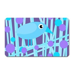 Blue And Purple Bird Magnet (rectangular) by Valentinaart