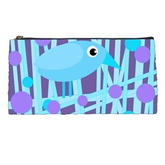 Blue And Purple Bird Pencil Cases by Valentinaart