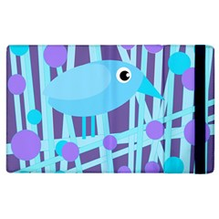 Blue And Purple Bird Apple Ipad 2 Flip Case by Valentinaart