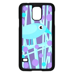Blue And Purple Bird Samsung Galaxy S5 Case (black) by Valentinaart