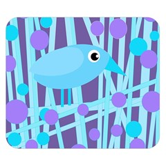 Blue And Purple Bird Double Sided Flano Blanket (small)  by Valentinaart