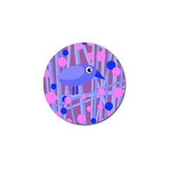 Purple And Blue Bird Golf Ball Marker (10 Pack) by Valentinaart
