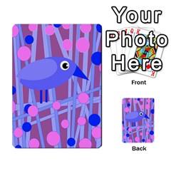 Purple And Blue Bird Multi Purpose Cards (rectangle)
