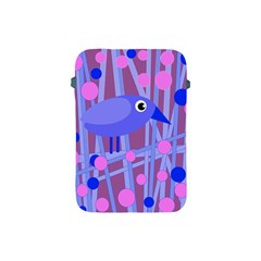 Purple And Blue Bird Apple Ipad Mini Protective Soft Cases by Valentinaart