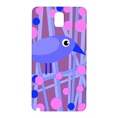 Purple And Blue Bird Samsung Galaxy Note 3 N9005 Hardshell Back Case by Valentinaart