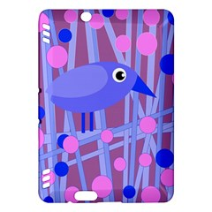 Purple And Blue Bird Kindle Fire Hdx Hardshell Case by Valentinaart