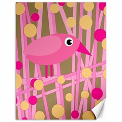 Pink Bird Canvas 12  X 16   by Valentinaart