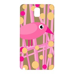 Pink Bird Samsung Galaxy Note 3 N9005 Hardshell Back Case by Valentinaart
