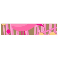Pink Bird Flano Scarf (small) by Valentinaart