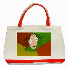 Crazy Girl Classic Tote Bag (red) by Valentinaart