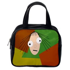 Crazy Girl Classic Handbags (one Side) by Valentinaart