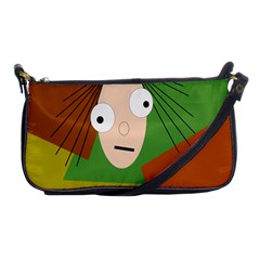 Crazy Girl Shoulder Clutch Bags by Valentinaart