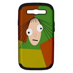 Crazy Girl Samsung Galaxy S Iii Hardshell Case (pc+silicone) by Valentinaart