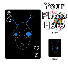 Blue Alien Playing Cards 54 Designs