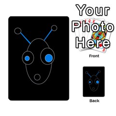 Blue Alien Multi Purpose Cards (rectangle)  by Valentinaart