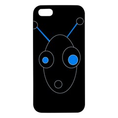 Blue Alien Iphone 5s/ Se Premium Hardshell Case by Valentinaart