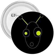 Yellow Alien 3  Buttons by Valentinaart