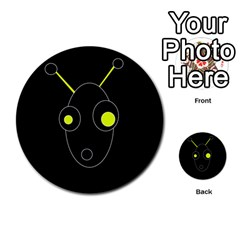 Yellow Alien Multi Purpose Cards (round)