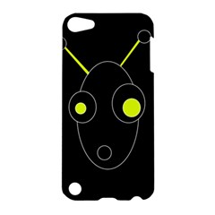 Yellow Alien Apple Ipod Touch 5 Hardshell Case by Valentinaart