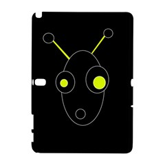 Yellow Alien Samsung Galaxy Note 10 1 (p600) Hardshell Case by Valentinaart