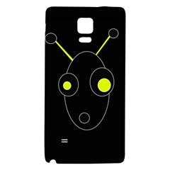 Yellow Alien Galaxy Note 4 Back Case by Valentinaart