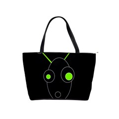 Green Alien Shoulder Handbags by Valentinaart
