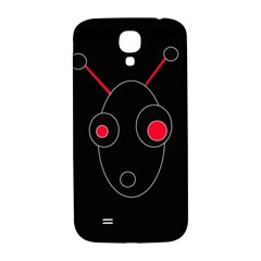 Red Alien Samsung Galaxy S4 I9500/i9505  Hardshell Back Case by Valentinaart
