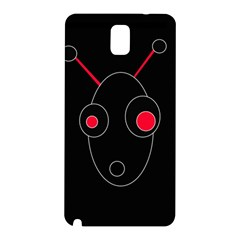 Red Alien Samsung Galaxy Note 3 N9005 Hardshell Back Case by Valentinaart