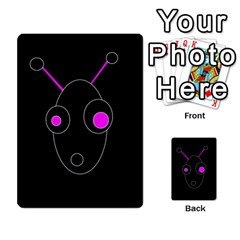 Purple Alien Multi Purpose Cards (rectangle)  by Valentinaart