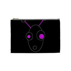 Purple Alien Cosmetic Bag (medium)  by Valentinaart