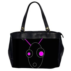 Purple Alien Office Handbags (2 Sides)  by Valentinaart
