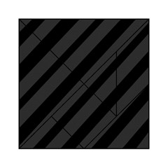 Gray And Black Lines Acrylic Tangram Puzzle (6  X 6 ) by Valentinaart