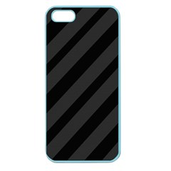 Gray And Black Lines Apple Seamless Iphone 5 Case (color) by Valentinaart