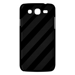 Gray And Black Lines Samsung Galaxy Mega 5 8 I9152 Hardshell Case  by Valentinaart