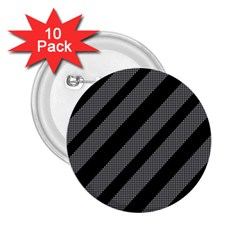 Black and gray lines 2.25  Buttons (10 pack)