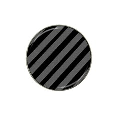 Black And Gray Lines Hat Clip Ball Marker (4 Pack) by Valentinaart