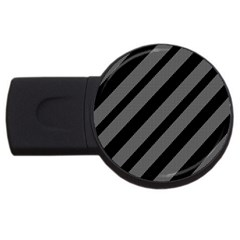 Black And Gray Lines Usb Flash Drive Round (4 Gb)  by Valentinaart