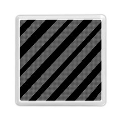 Black And Gray Lines Memory Card Reader (square)  by Valentinaart