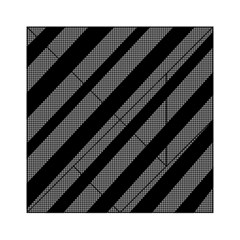 Black And Gray Lines Acrylic Tangram Puzzle (6  X 6 ) by Valentinaart