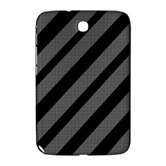 Black And Gray Lines Samsung Galaxy Note 8 0 N5100 Hardshell Case  by Valentinaart