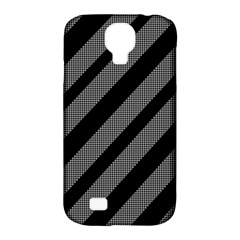 Black And Gray Lines Samsung Galaxy S4 Classic Hardshell Case (pc+silicone) by Valentinaart