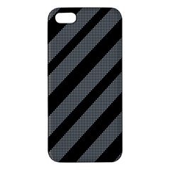 Black And Gray Lines Iphone 5s/ Se Premium Hardshell Case by Valentinaart