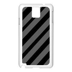 Black And Gray Lines Samsung Galaxy Note 3 N9005 Case (white) by Valentinaart