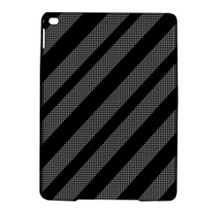 Black And Gray Lines Ipad Air 2 Hardshell Cases by Valentinaart
