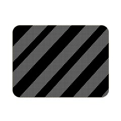 Black And Gray Lines Double Sided Flano Blanket (mini)  by Valentinaart