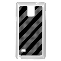Black And Gray Lines Samsung Galaxy Note 4 Case (white) by Valentinaart