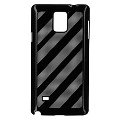 Black and gray lines Samsung Galaxy Note 4 Case (Black) by Valentinaart